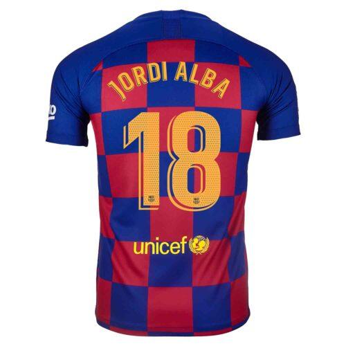 2019/20 Kids Nike Jordi Alba Barcelona Home Jersey