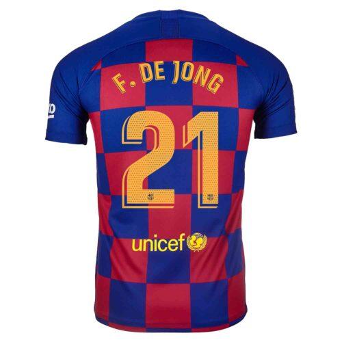 2019/20 Kids Nike Frenkie De Jong Barcelona Home Jersey