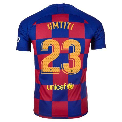2019/20 Kids Nike Samuel Umtiti Barcelona Home Jersey