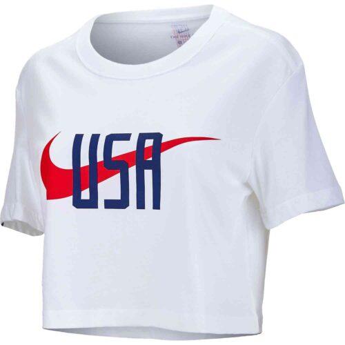 Womens Nike USWNT Squad Tee – White