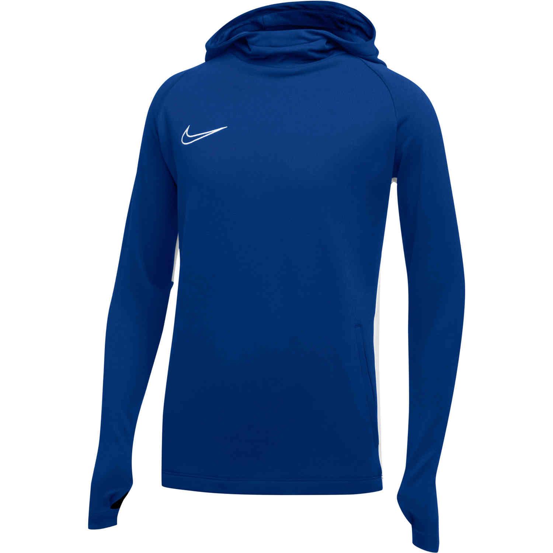 Kids Nike Academy19 Hoodie Royal Blue SoccerPro