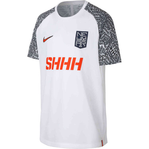 Nike Kids White Neymar Dri-Fit Top – Silencio