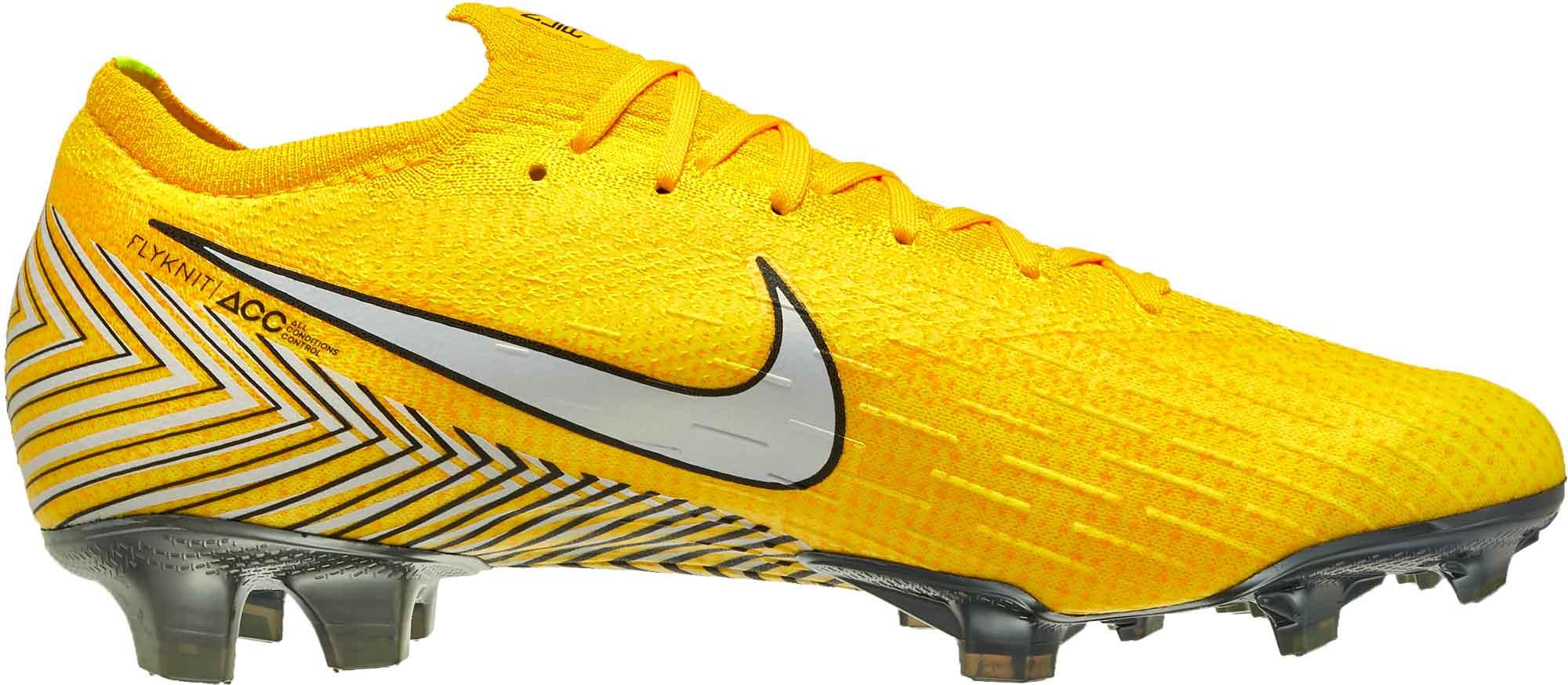 4935dd2636c Nike Neymar Vapor 12 Elite FG - Amarillo White Black - SoccerPro