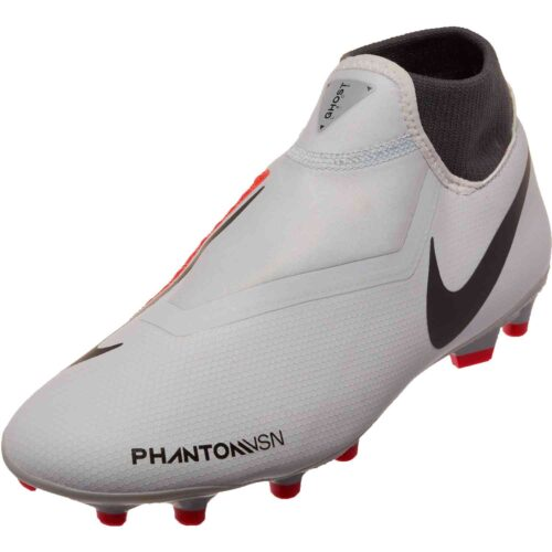 Nike Phantom Vision Academy MG – Pure Platinum/Black/Light Crimson/Dark Grey