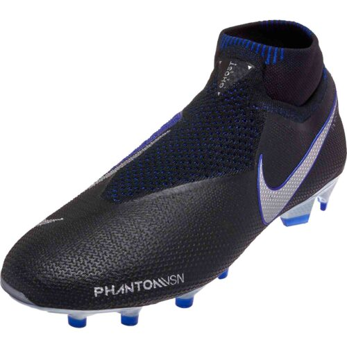 Nike Phantom Vision Elite FG – Black/Metallic Silver/Racer Blue