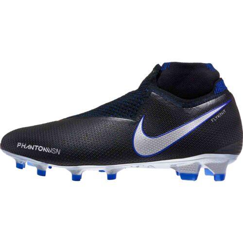 Nike Phantom Vision Elite FG – Black/Metallic Silver/Racer Blue