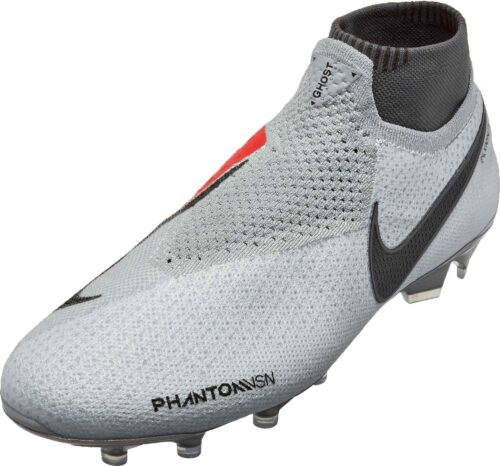Nike Phantom Vision Elite FG – Pure Platinum/Black/Light Crimson/Dark Grey