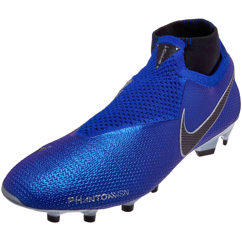 38d1d1a6727 Nike Phantom Vision Elite FG – Racer Blue Black Metallic Silver Volt