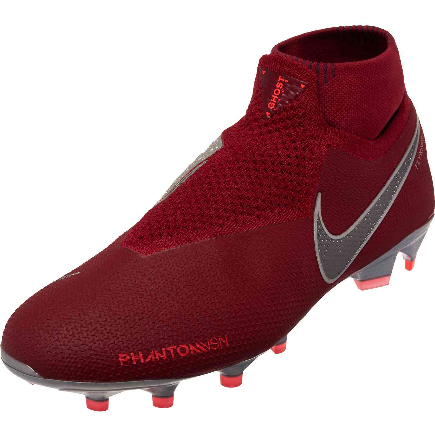 Nike Phantom Vision Elite FG – Team RedMetallic Dark GreyBright Crimson