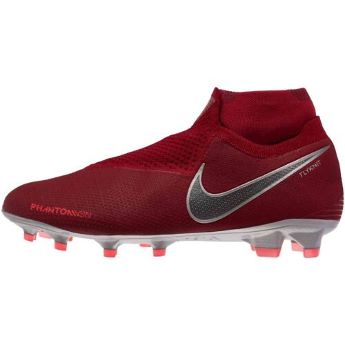 Nike Phantom Vision Elite FG – Team Red/Metallic Dark Grey/Bright Crimson
