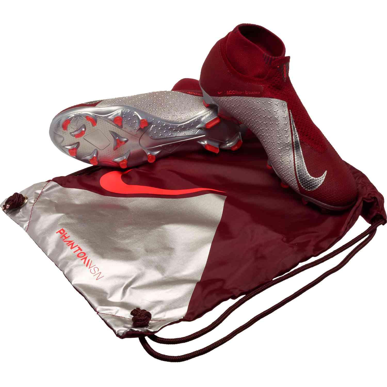 ba820458370 Nike Phantom Vision Elite FG – Team Red Metallic Dark Grey Bright Crimson