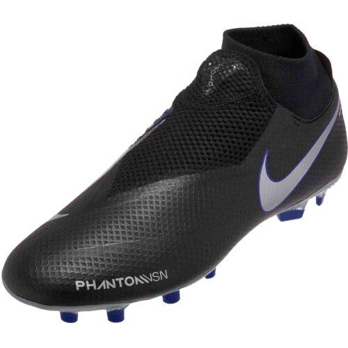 Nike Phantom Vision Pro FG – Black/Metallic Silver/Racer Blue