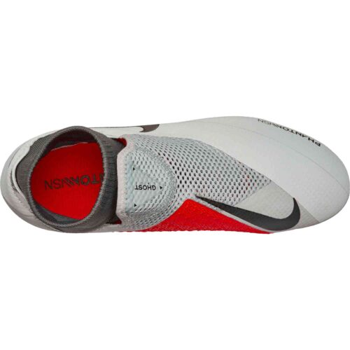 Nike Phantom Vision Pro FG – Pure Platinum/Black/Light Crimson/Dark Grey