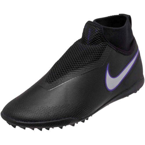 Nike Phantom Vision Pro TF – Black/Metallic Silver/Racer Blue