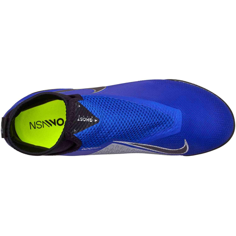 bb02d12f401 Nike Phantom Vision Pro TF - Racer Blue Black Metallic Silver Volt ...
