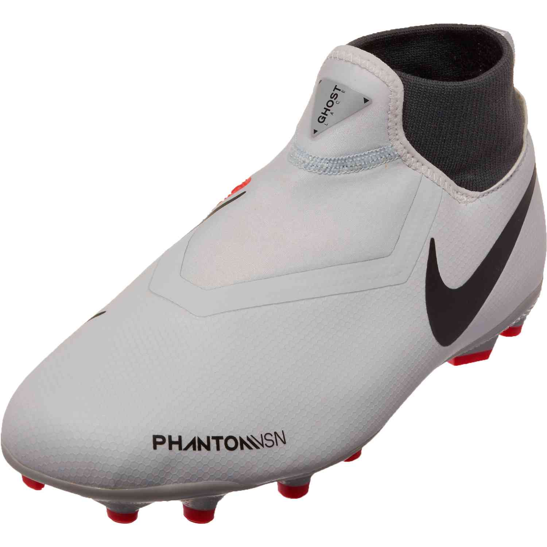 237f109c5 Nike Phantom Vision Academy MG – Youth – Pure Platinum Black Light Crimson