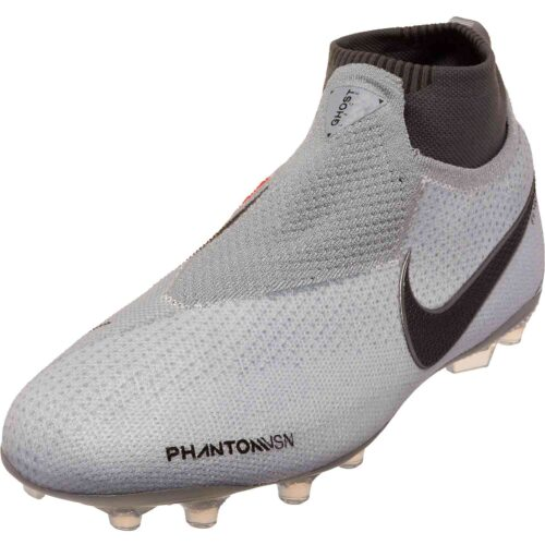 Nike Phantom Vision Elite MG – Youth – Pure Platinum/Black/Light Crimson/Dark Grey