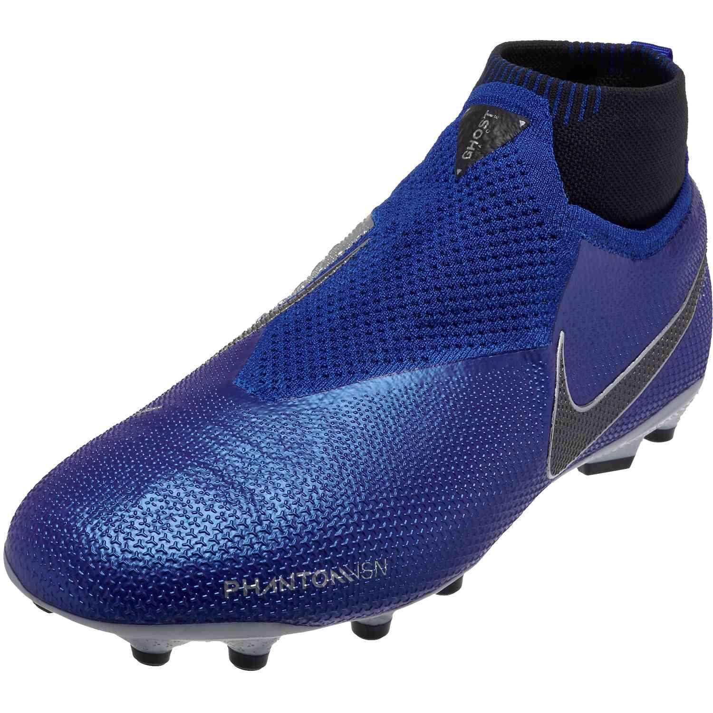 849452cc2 Nike Phantom Vision Elite MG – Youth – Racer Blue Black Metallic Silver