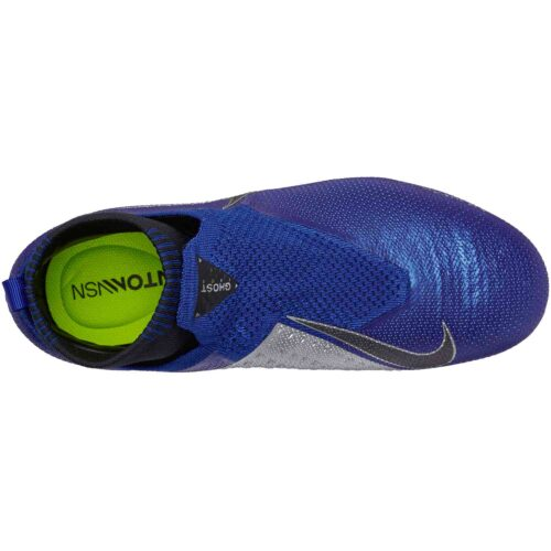 Nike Phantom Vision Elite MG – Youth – Racer Blue/Black/Metallic Silver/Volt