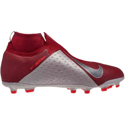 Nike Phantom Vision Elite MG – Youth – Team Red/Metallic Dark Grey/Bright Crimson