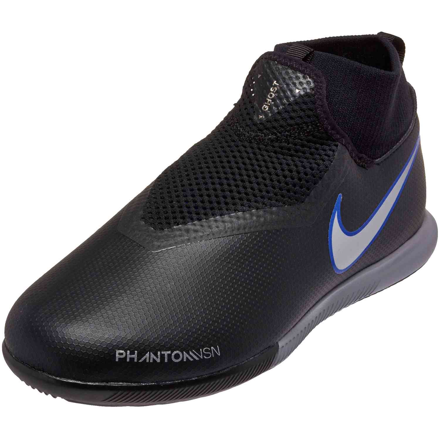 online store a4c76 31202 Nike Phantom Vision Academy DF IC – Youth – BlackMetallic SilverRacer Blue