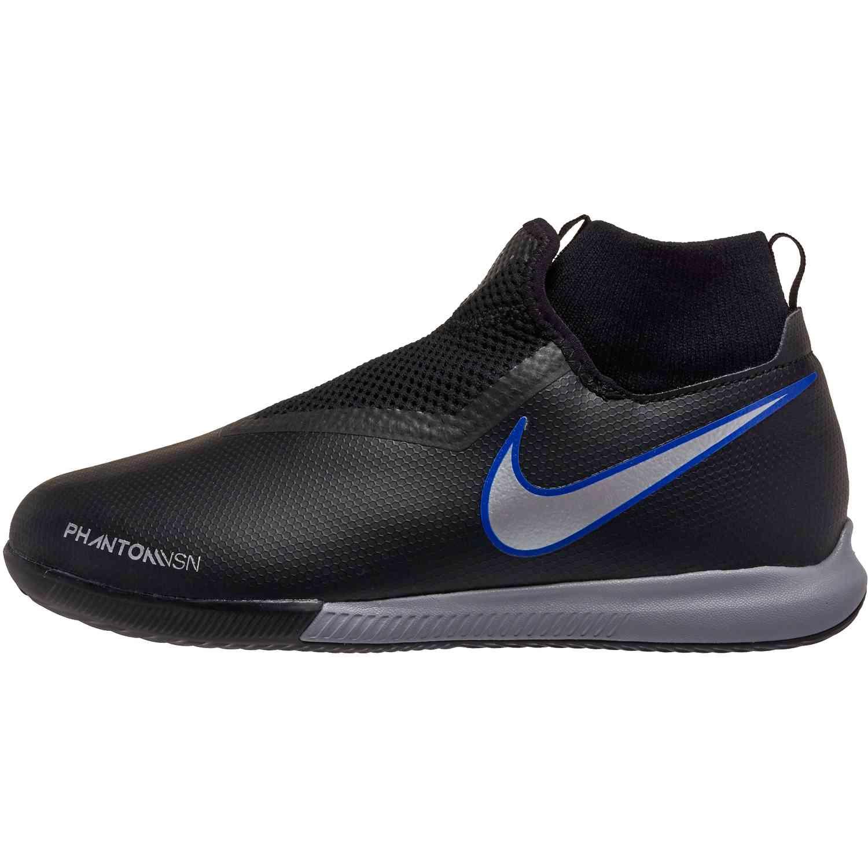 da1763991 Nike Phantom Vision Academy DF IC – Youth – Black Metallic Silver Racer Blue