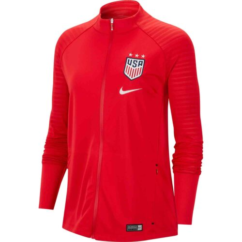 Womens Nike USWNT Anthem Jacket – Speed Red/White