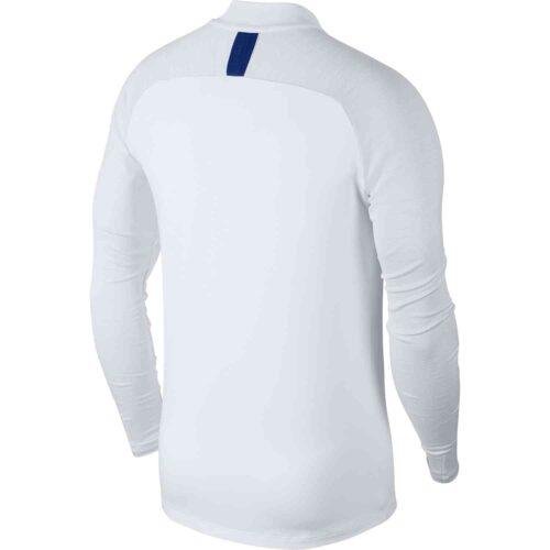 Nike Chelsea Strike Drill Top – White/White/Pure Platinum/Rush Blue