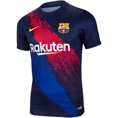 Nike Barcelona Pre-match Top – Obsidian/Varsity Maize