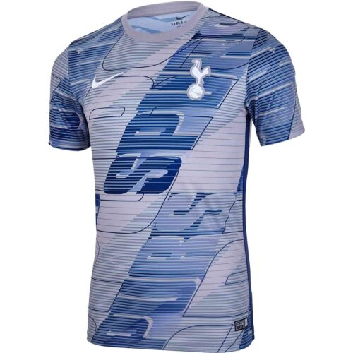 Nike Tottenham Pre-Match Top – Atmosphere Grey/Binary Blue/White