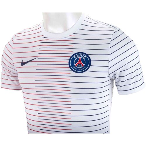Nike PSG Pre-match Training Top – White/Midnight Navy