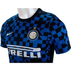 super popular a6739 97453 Nike Inter Milan Pre-match Training Top - BlueSpark/Black ...