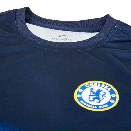 Kids Nike Chelsea Pre-match Training Top – White/Obsidian