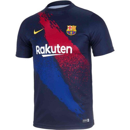 Kids Nike Barcelona Pre-match Top – Obsidian/Varsity Maize