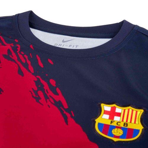Kids Nike Barcelona Pre-match Top – Obsidian/Varsity Maize