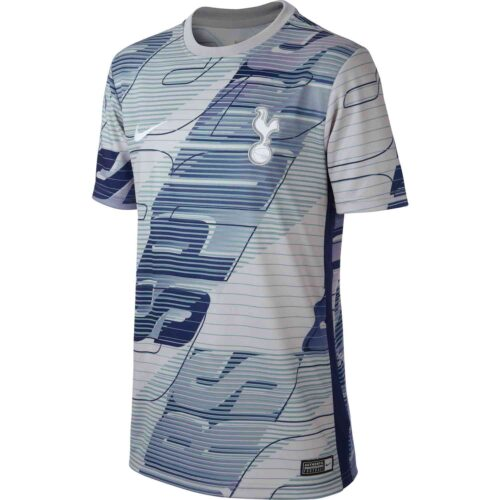 Kids Nike Tottenham Pre-Match Top – Atmosphere Grey/Binary Blue/White