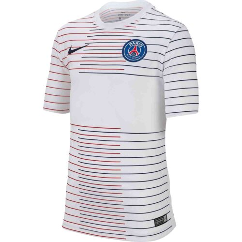Kids Nike PSG Pre-match Training Top – White/Midnight Navy