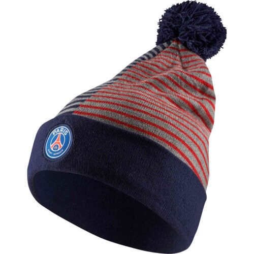 Nike PSG Striped Beanie – Midnight Navy/Challenge Red