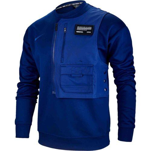 Nike FC L/S Crew – Blue Void