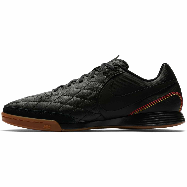 d0d93fde3 Nike TiempoX Ligera IV IC - 10R - Black/Metallic Gold - SoccerPro