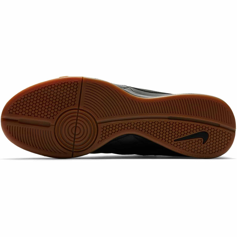 c46f26193 Nike TiempoX Ligera IV IC - 10R - Black Metallic Gold - SoccerPro