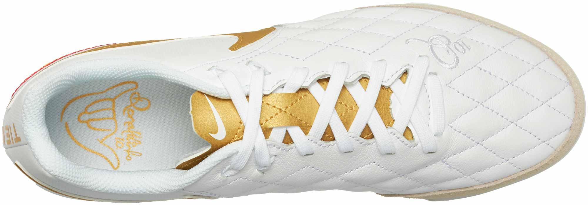 various colors 8b64c 79cec Nike LegendX 7 Academy IC - 10R - White/Metallic Gold ...