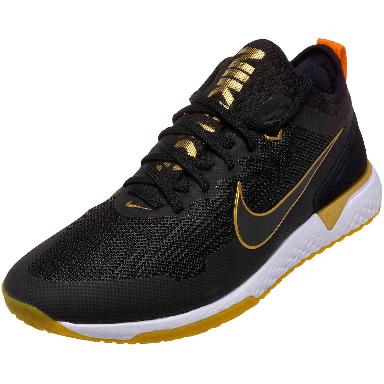 d4892858afbbc3 Nike FC React - Black and Metallic Gold - SoccerPro.com