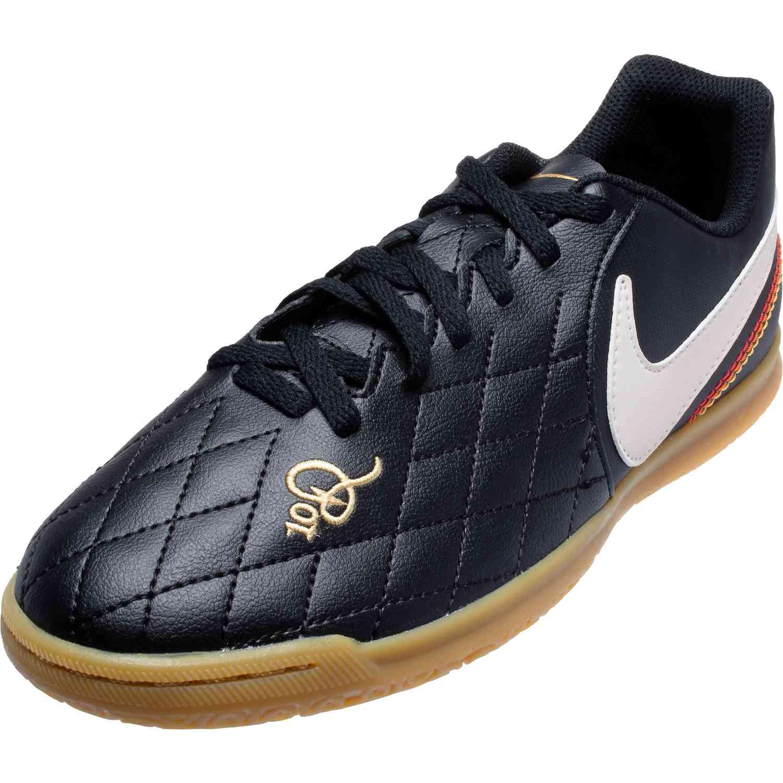 47a28b595c16 Kids Nike 10R Tiempo Legend 7 Club IC - Black/Light Orewood/Brown ...