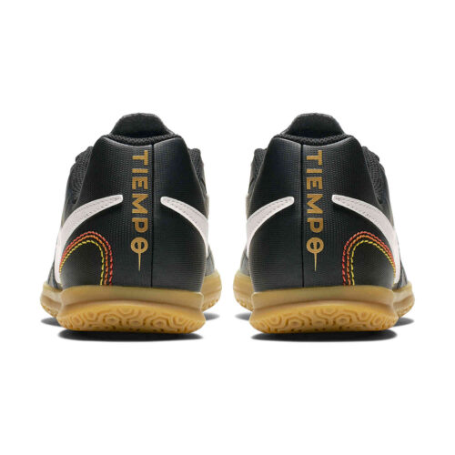 Kids Nike 10R Tiempo Legend 7 Club IC – Black/Light Orewood/Brown/Metallic Gold
