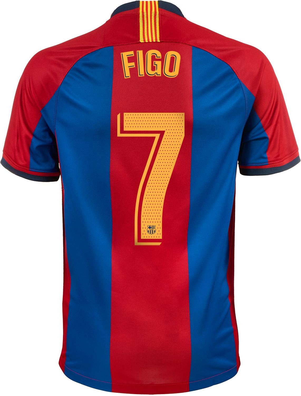 lanzar Tipo delantero Admitir  1998/1999 Nike Luis Figo Barcelona Retro Home Jersey - SoccerPro