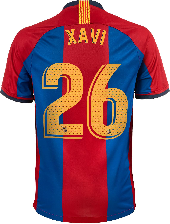 1998/1999 Nike Xavi Barcelona Retro Home Jersey - SoccerPro