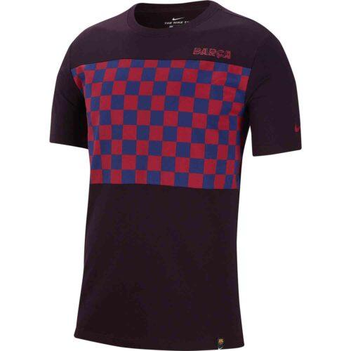 Nike Barcelona Travel Crest Tee – Burgundy Ash