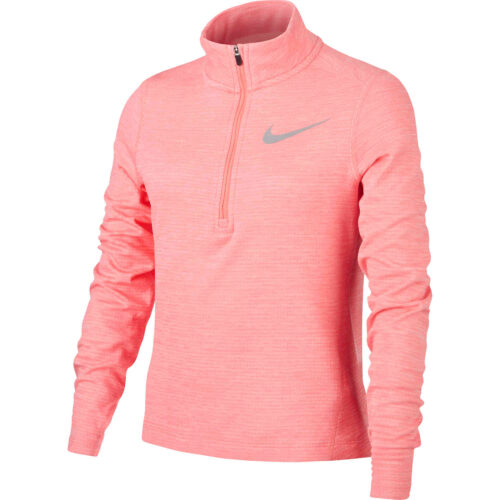 Girls Nike 1/2 zip Training Top – Pink Gaze