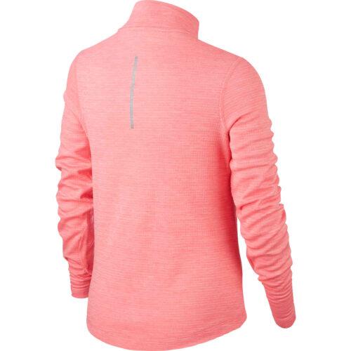 Girls Nike 1/2 zip Training Top – Pink Gaze